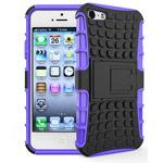 Чехол Yotrix Shockproof case для Apple iPhone SE (фиолетовый, пластиковый)
