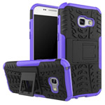 Чехол Yotrix Shockproof case для Samsung Galaxy A3 2017 (фиолетовый, пластиковый)
