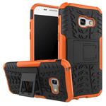 Чехол Yotrix Shockproof case для Samsung Galaxy A3 2017 (оранжевый, пластиковый)