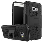 Чехол Yotrix Shockproof case для Samsung Galaxy A3 2017 (черный, пластиковый)