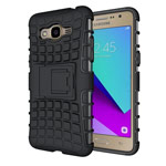 Чехол Yotrix Shockproof case для Samsung Galaxy J2 Prime (черный, пластиковый)