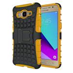 Чехол Yotrix Shockproof case для Samsung Galaxy J2 Prime (оранжевый, пластиковый)
