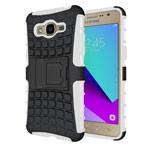 Чехол Yotrix Shockproof case для Samsung Galaxy J2 Prime (белый, пластиковый)