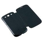 Чехол Yotrix BackCover Flip для Samsung Galaxy S3 i9300 (карбон, черный)