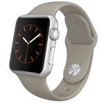 Ремешок для часов Synapse Sport Band для Apple Watch (38 мм, серо-бежевый, силиконовый)