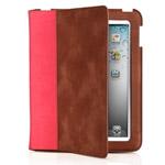 Чехол Odoyo SlimCoat Soft Folio Case для Apple iPad 2/new iPad (розовый/коричневый, кожанный)