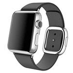 Ремешок для часов Synapse Modern Buckle для Apple Watch (38 мм, черный, кожаный)