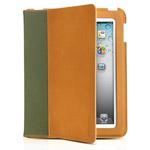 Чехол Odoyo SlimCoat Soft Folio Case для Apple iPad 2/new iPad (зеленый/бежевый, кожанный)