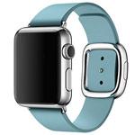 Ремешок для часов Synapse Modern Buckle для Apple Watch (38 мм, голубой, кожаный)