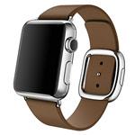 Ремешок для часов Synapse Modern Buckle для Apple Watch (38 мм, коричневый, кожаный)