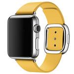 Ремешок для часов Synapse Modern Buckle для Apple Watch (38 мм, желтый, кожаный)