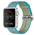 Ремешок для часов Synapse Woven Nylon для Apple Watch (42 мм, голубой, нейлоновый)
