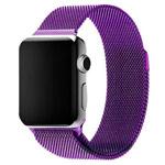 Ремешок для часов Synapse Milanese Loop для Apple Watch (42 мм, фиолетовый, стальной)