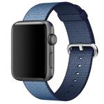Ремешок для часов Synapse Woven Nylon для Apple Watch (38 мм, синий, нейлоновый)