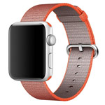 Ремешок для часов Synapse Woven Nylon для Apple Watch (38 мм, оранжевый, нейлоновый)