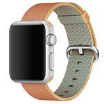 Ремешок для часов Synapse Woven Nylon для Apple Watch (38 мм, золотистый/оранжевый, нейлоновый)
