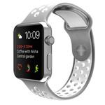 Ремешок для часов Synapse Sport Dotted Band для Apple Watch (42 мм, белый/серый, силиконовый)