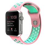 Ремешок для часов Synapse Sport Dotted Band для Apple Watch (38 мм, розовый/голубой, силиконовый)