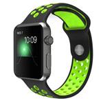 Ремешок для часов Synapse Sport Dotted Band для Apple Watch (38 мм, черный/зеленый, силиконовый)