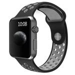 Ремешок для часов Synapse Sport Dotted Band для Apple Watch (38 мм, черный/серый, силиконовый)