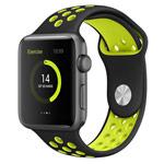 Ремешок для часов Synapse Sport Dotted Band для Apple Watch (38 мм, черный/светло-зеленый, силиконовый)