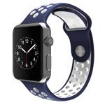 Ремешок для часов Synapse Sport Dotted Band для Apple Watch (38 мм, синий/белый, силиконовый)