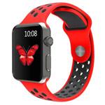 Ремешок для часов Synapse Sport Dotted Band для Apple Watch (38 мм, красный/черный, силиконовый)