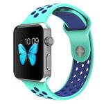 Ремешок для часов Synapse Sport Dotted Band для Apple Watch (38 мм, голубой/синий, силиконовый)