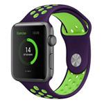 Ремешок для часов Synapse Sport Dotted Band для Apple Watch (38 мм, фиолетовый/зеленый, силиконовый)