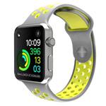 Ремешок для часов Synapse Sport Dotted Band для Apple Watch (38 мм, серый/зеленый, силиконовый)