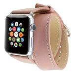 Ремешок для часов Kakapi Double Tour Band для Apple Watch (42 мм, розовый, кожаный)