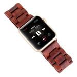 Ремешок для часов Synapse Link Wood Bracelet для Apple Watch (42 мм, темно-коричневый, деревянный)