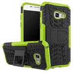 Чехол Yotrix Shockproof case для Samsung Galaxy A7 2017 (зеленый, пластиковый)
