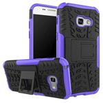 Чехол Yotrix Shockproof case для Samsung Galaxy A7 2017 (фиолетовый, пластиковый)