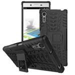 Чехол Yotrix Shockproof case для Sony Xperia XZ (черный, пластиковый)