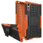 Чехол Yotrix Shockproof case для Sony Xperia XZ (оранжевый, пластиковый)