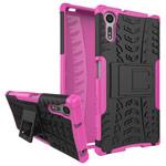 Чехол Yotrix Shockproof case для Sony Xperia XZ (розовый, пластиковый)