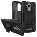 Чехол Yotrix Shockproof case для Asus Zenfone 3 Max ZC520TL (черный, пластиковый)