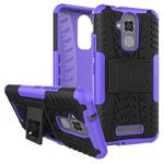 Чехол Yotrix Shockproof case для Asus Zenfone 3 Max ZC520TL (фиолетовый, пластиковый)