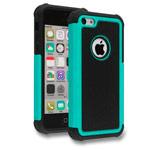 Чехол Yotrix Antishock case для Apple iPhone SE (бирюзовый, пластиковый)