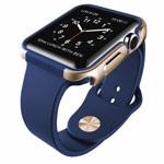 Чехол X-doria Defense Edge для Apple Watch 42 мм (синий/золотистый, маталлический)