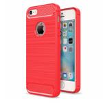 Чехол Yotrix Rugged Armor для Apple iPhone SE (красный, гелевый)