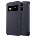 Чехол Nillkin Sparkle Leather Case для LG K10 2017 (темно-серый, винилискожа)