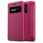 Чехол Nillkin Sparkle Leather Case для LG K10 2017 (розовый, винилискожа)