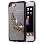 Чехол Harley Davidson Love Wings для Apple iPhone 7 (черный, металлический)