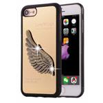 Чехол Harley Davidson Love Wings для Apple iPhone 7 (золотистый, металлический)
