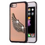 Чехол Harley Davidson Love Wings для Apple iPhone 7 (бронзовый, металлический)