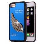 Чехол Harley Davidson Love Wings для Apple iPhone 7 (синий, металлический)