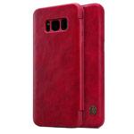 Чехол Nillkin Qin leather case для Samsung Galaxy S8 (красный, кожаный)