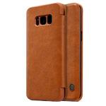Чехол Nillkin Qin leather case для Samsung Galaxy S8 (коричневый, кожаный)